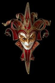 venetian mask damask joker with 13 points tradition venetian papier mache mask