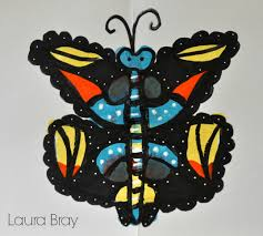 crafting with kids paint blot butterflies laura k bray designs