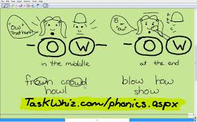 ow phonics sound lesson story youtube