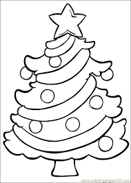 14 coloring pages christmas trees images