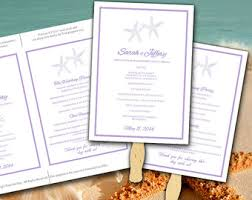 Diy Wedding Ceremony Program Diy Wedding Program Fan Template Beach Ceremony Program