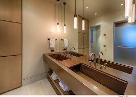 Bathroom Lighting Placement - mountain retreat near lake tahoe radiates cozy brilliance