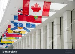 Canadian Provincial Flags Picture Canadian Flag Along Flags 10 Stock Photo 669373687