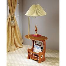 Chair Side End Table Chairside Oak End Table With Swing Arm Lamp Hayneedle
