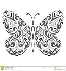 abstract mehndi butterfly vector illustration stock vector