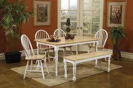 kitchen rectangle kitchen table with bench for striking white