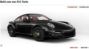 porsche 911 configurator porsche 911 turbo configurator discovered the german car