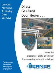 Berner Air Curtain Door Switch by Door Heaters U0026 Beacon Morris Residential Heat Kickspace Heaters