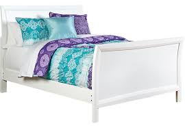 ivy league white 3 pc full sleigh bed beds white