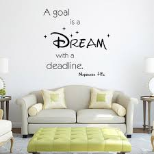 goal dream promotion shop for promotional goal dream on aliexpress com a goal is a dream home decor creative wall stickers pvc removable black color home decor art decals wall sticker w5