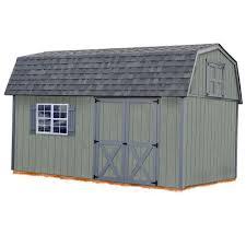 barns sheds garages outdoor storage the home depot meadowbrook 10 ft x 16 ft wood storage shed kit
