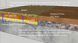 flooring raise concrete floor with carpet to same height as
