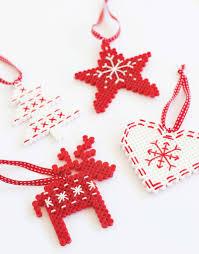 Christmas Ornament Holders Scandi Hama Bead Ornaments Fun Crafts Kids