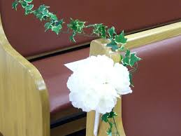 pew decorations 25 attractive pew decorations for weddings slodive