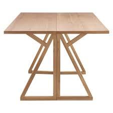 heath 2 4 seat oak folding dining table solid oak construction