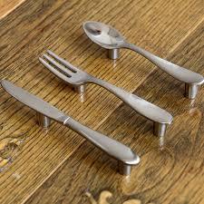 Unique Kitchen Knives Unique Spoon Fork Knife Shape Kitchen Cabinet Closet Drawer Pull