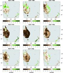 drought variability in the eastern australia and new zealand