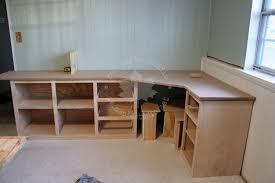 built in corner desk home design ideas