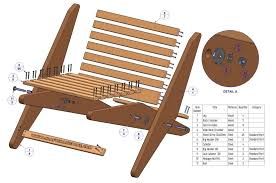 Garden Wood Furniture Plans by Folding Chair Plan