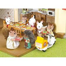 Calico Critters Play Table by Calico Critters Girls Pizza Delivery Playset Multicolor One Size