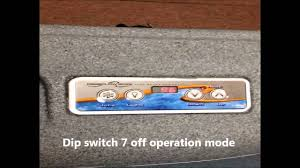 free flow spas control panel operation youtube