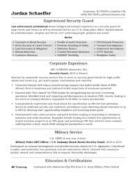 security officer resume security guard resume sle
