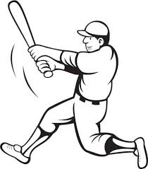 Baseball Batter Swinging Coloring Page Free Printable Coloring Pages Jackie Robinson Coloring Page