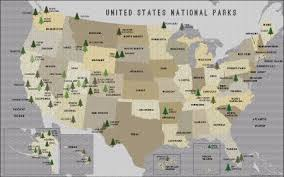 us map states national parks us map posters map of the united states poster