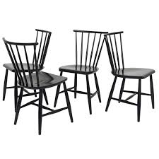 four 1950s swedish windsor style spindle back dining chairs at 1stdibs