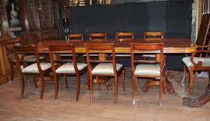 walnut regency dining set pedestal table matching 12 chairs ebay
