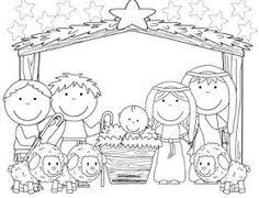 free nativity coloring coloring preschool colouring pages