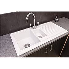 Reginox RLCW  Bowl White Ceramic Reversible Kitchen Sink - Ceramic kitchen sinks uk