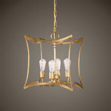 Uttermost Chandeliers Clearance Uttermost Dore Gold Four Light Lantern Pendant On Sale