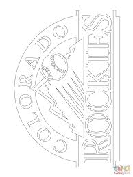 colorado rockies logo coloring page free printable coloring pages