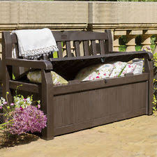 Outdoor Storage Box Bench Pool Storage Box Ebay