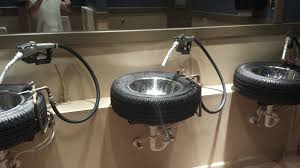 Bathroom In Garage by Bathroom Sinks From A Car Themed Burger Restaurant Created With