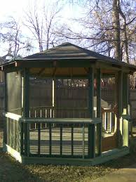 Wooden Screen Gazebos by Screened Gazebo Wood House Decorations And Furniture Modest And