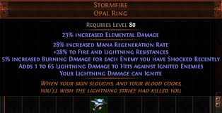 best rings poe images Stormfire opal ring pathofexile png