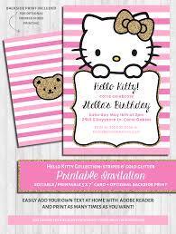 Hello Kitty Invitation Cards Hello Kitty Party Invitations Pink U0026 Gold Glitter Kitty Party