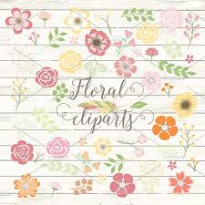 vector shabby chic flower cliparts illustrations creative market