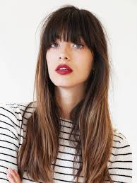 brunette hairstyles wiyh swept away bangs pin by beauty ecology on multi ombre hair color pinterest