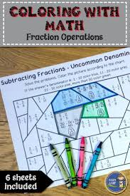 best 25 operations with fractions ideas only on pinterest math