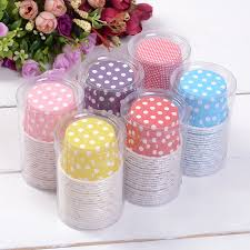 best selling mini size 20pcs colorful polka dot cupcake liners