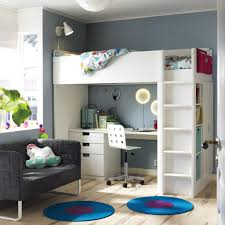 Bunk Bed Shelf Ikea Bedroom Sofa And Bunk With Desk Also Ikea Bedrooms For