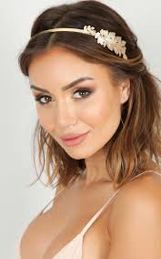 goddess headband goddess headband in gold showpo