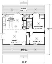 two bedroom cabin floor plans cottage 2 beds 1 5 baths 954 sq ft plan 56 547 main floor plan