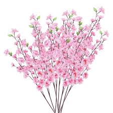 cherry blossom flowers artificial blossom cherry plum bouquet branch