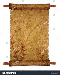 scroll papyrus your messages designs stock illustration