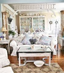 furniture home shabby chic style living room and white sofa and