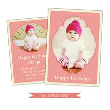 nuwzz happy birthday card photoshop template baby pink hearts di